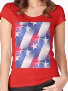 murica Women's Fitted Scoop T-Shirt