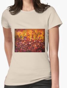 Spring Garden - abstract painting Womens Fitted T-Shirt