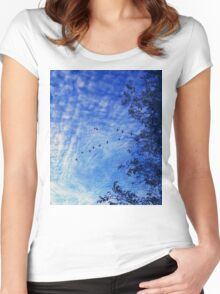 Birds are nature Women's Fitted Scoop T-Shirt