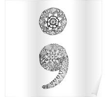 Patterned Semicolon Poster