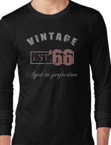 Vintage 1966 Grunge Long Sleeve T-Shirt