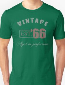 Vintage 1966 Grunge Unisex T-Shirt