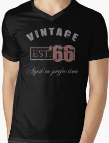 Vintage 1966 Grunge Mens V-Neck T-Shirt