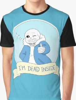 """Undertale - Sans """"I'm Dead Inside"""" Graphic T-Shirt"""
