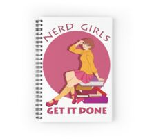 Nerd girls get it done Spiral Notebook