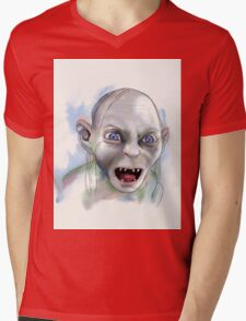 Gollum. Mens V-Neck T-Shirt
