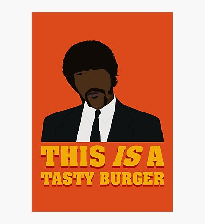 This is a tasty burger. Photographic Print