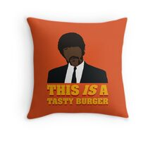 This is a tasty burger. Throw Pillow