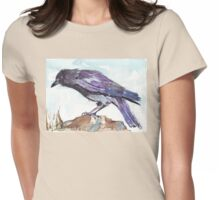 The playful Crow Womens Fitted T-Shirt