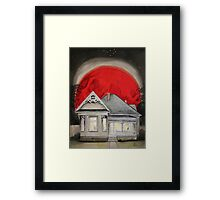 Red Blood Moon Framed Print