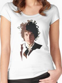 Bob Dylan Music Icon Women's Fitted Scoop T-Shirt
