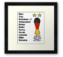West Germany 1974 World Cup Final Winners Framed Print