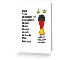 West Germany 1974 World Cup Final Winners Greeting Card
