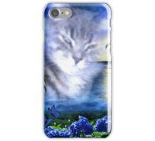 Paradise Blue - Kitty iPhone Case/Skin