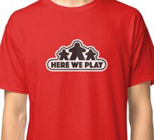 Here We Play Boardgames - Red Classic T-Shirt