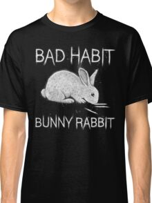 Bad Habit Bunny Rabbit Cocaine Classic T-Shirt