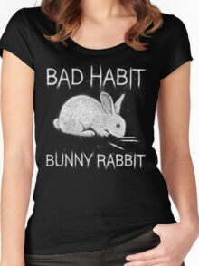 Bad Habit Bunny Rabbit Cocaine Women's Fitted Scoop T-Shirt