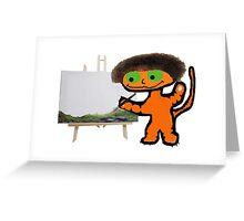BobCat Ross Painting Greeting Card
