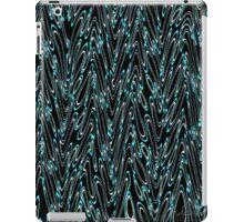 Graphic Wave turquoise white black 520B iPad Case/Skin