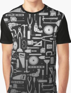 Black & Silver Workshop Tools Graphic T-Shirt