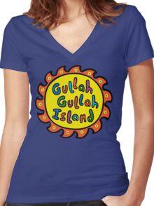 Gullah Gullah Island Women's Fitted V-Neck T-Shirt