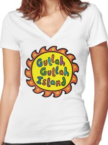 Gullah Gullah Island Women's Fitted V-Neck T-Shirt