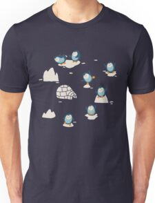 Penguins on ice Unisex T-Shirt