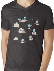 Penguins on ice Mens V-Neck T-Shirt