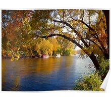 Fall Time Along the River Poster