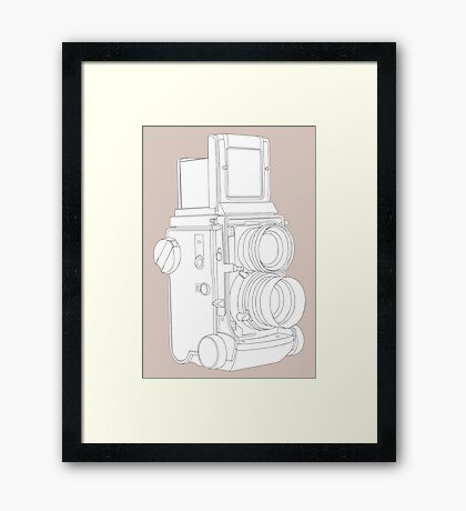 TLR Camera Framed Print