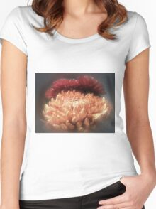 Autumn Flowers Women's Fitted Scoop T-Shirt