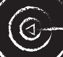White BULLSEYE on Black Sticker