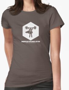 Nerdstrong Gym Logo Womens Fitted T-Shirt