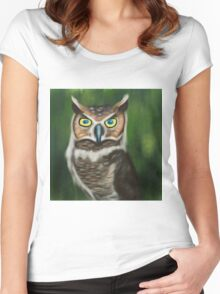 Owl Women's Fitted Scoop T-Shirt