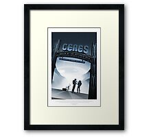 NASA - Ceres Space Poster Framed Print