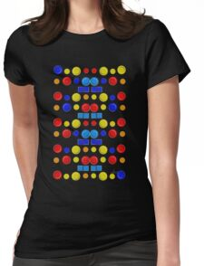 Button Button Whose Got the Button Colorful 2H Womens Fitted T-Shirt