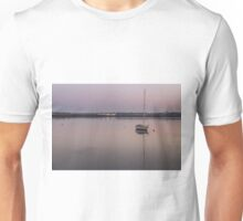 Lone Boat at Dawn, Hastings Unisex T-Shirt