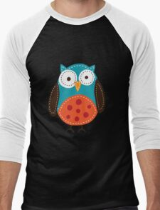 Cute owl graphic Men's Baseball ¾ T-Shirt