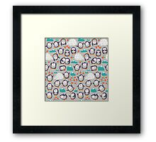 Summer penguins Framed Print