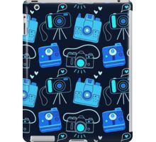 Black & Blue Shutter Bug Retro Cameras iPad Case/Skin