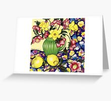 Winter Blooms Greeting Card