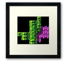 Tileset: Pink and Green Framed Print