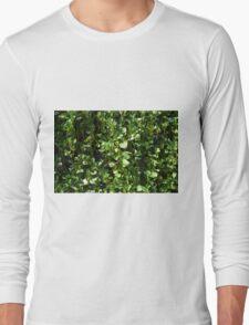 Green leaves pattern. Long Sleeve T-Shirt