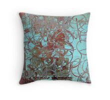 Calligraffiti Urban Grunge Throw Pillow
