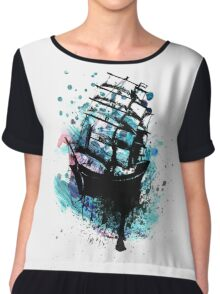 Frigate Ship Grunge 2 Chiffon Top