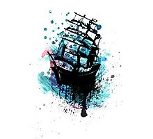 Frigate Ship Grunge 2 Photographic Print