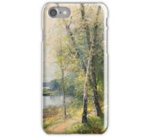 SEVERIN NILSON, BIRCH TREES IN EARLY SUMMER iPhone Case/Skin