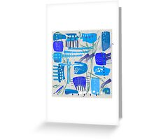 Chaotic  Mid-Century Abstract Greeting Card