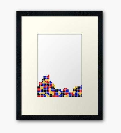 Tetris design Framed Print