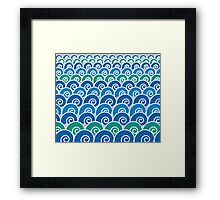 Blue Beach Waves Framed Print